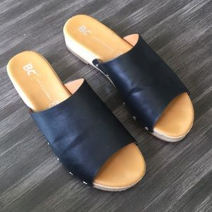 BC Born in california vegan leather slides